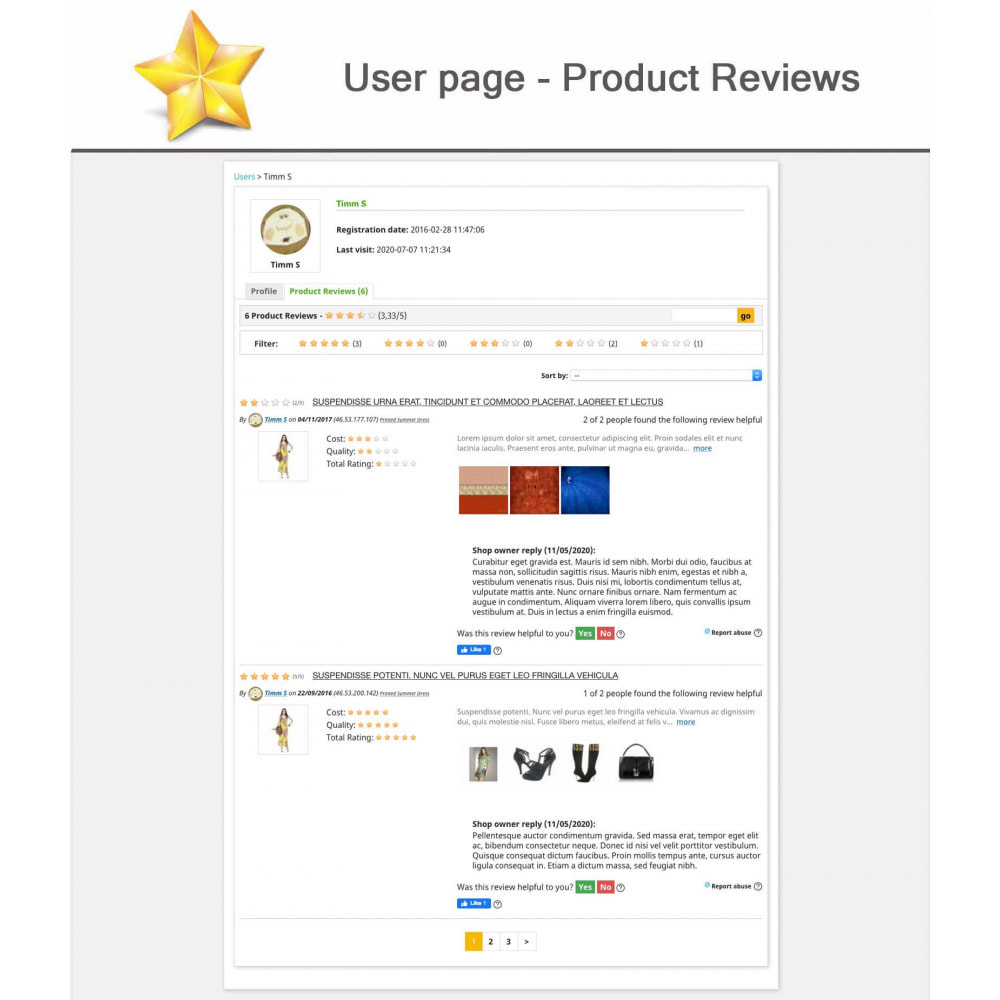 module - Sociale Widgets - Product Reviews PRO + Loyalty Program + User Profile - 13