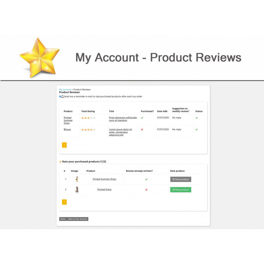 module - Widgets de Redes Sociais - Product Reviews PRO + Loyalty Program + User Profile - 15