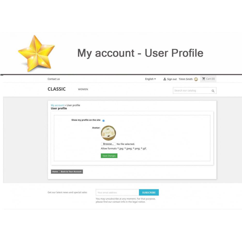 module - Widgets réseaux sociaux - Produit Avis + Programmes fidélité + Profil utilisateur - 16