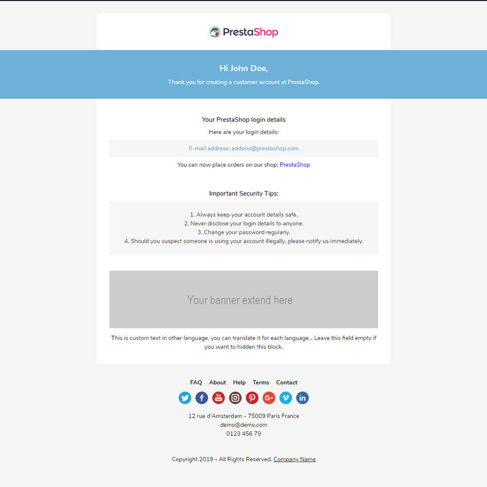 email - Email templates PrestaShop - Hot - Template emails and for emails of module - 3
