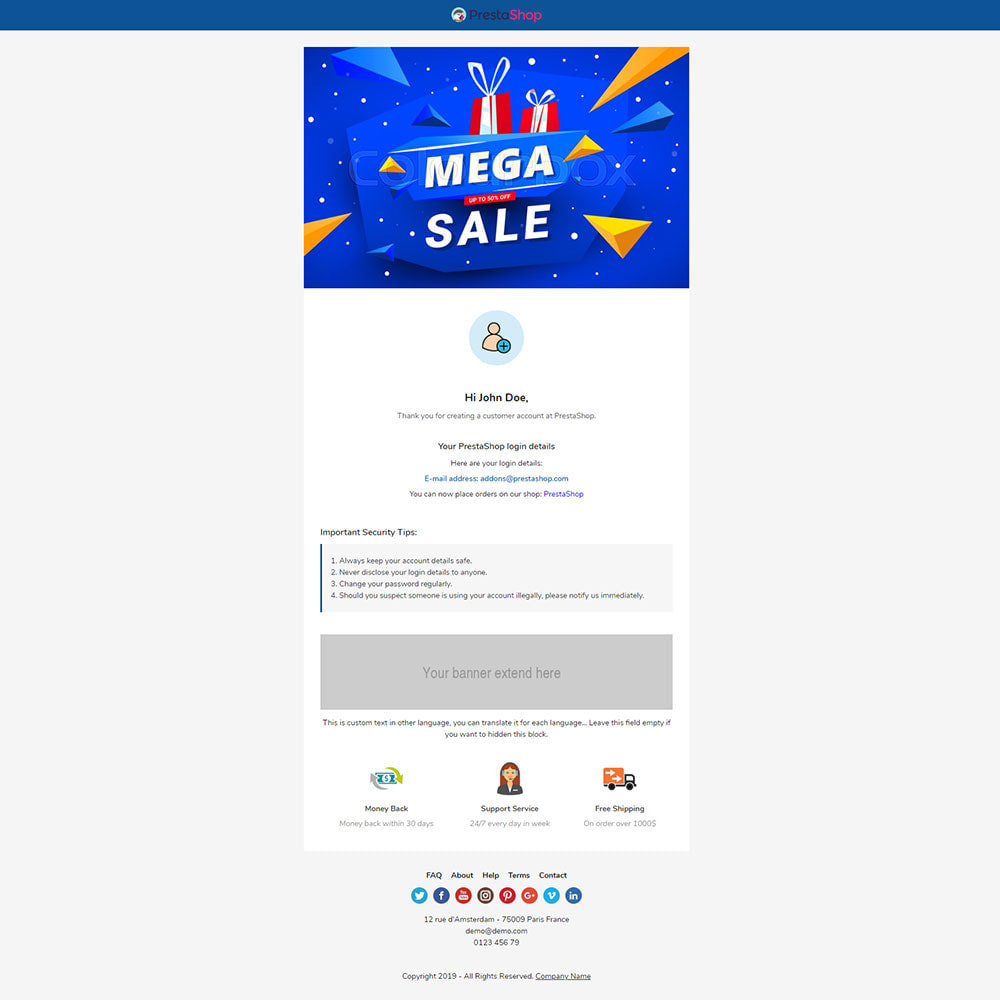 email - Email templates PrestaShop - Kaido - Template emails and for emails of module - 3