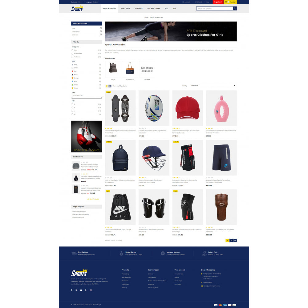 theme - Sports, Activities & Travel - Sports Line Store - 3