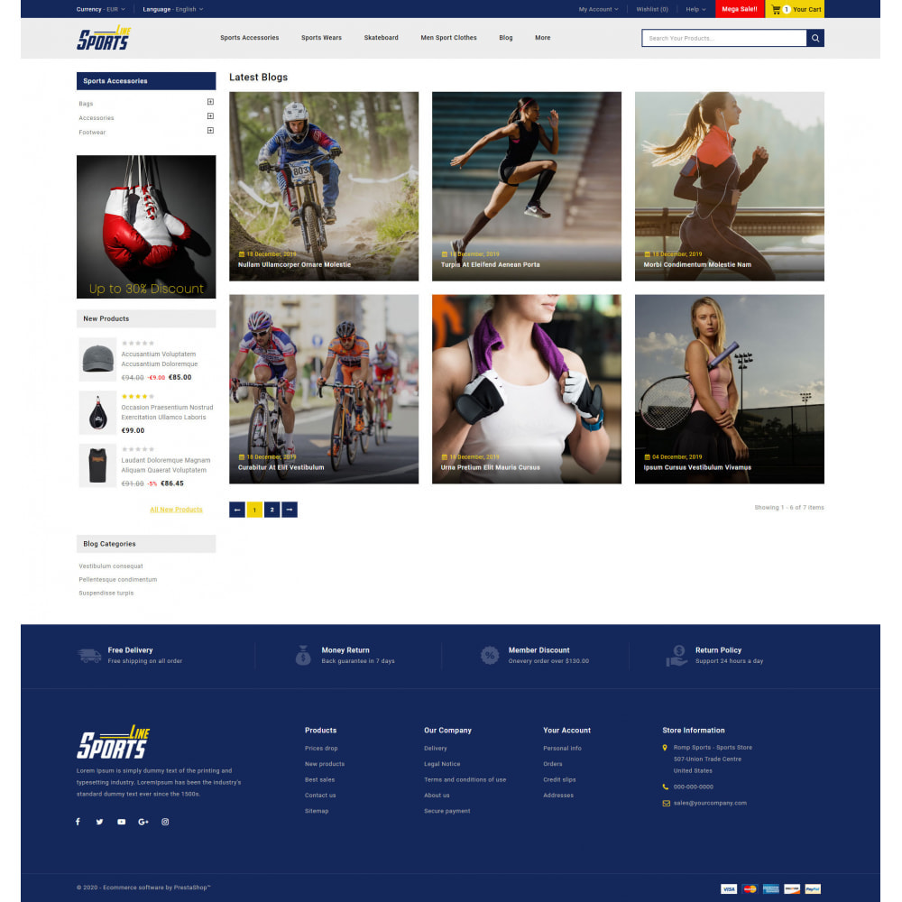 theme - Sports, Activities & Travel - Sports Line Store - 9