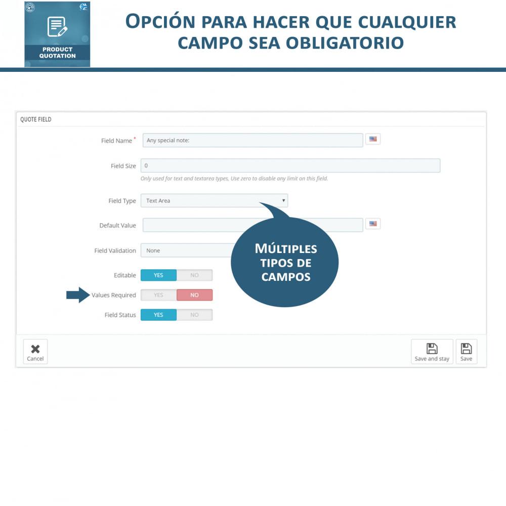 module - Presupuestos - Cotización de Producto - Permitir al Cliente Cotizar - 16