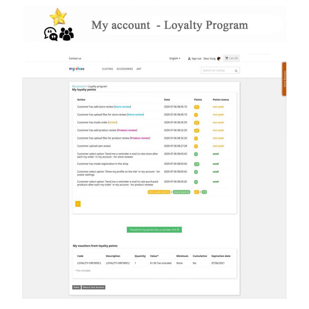module - Recensioni clienti - Product Reviews+Shop Reviews, Loyalty Program, Reminder - 22