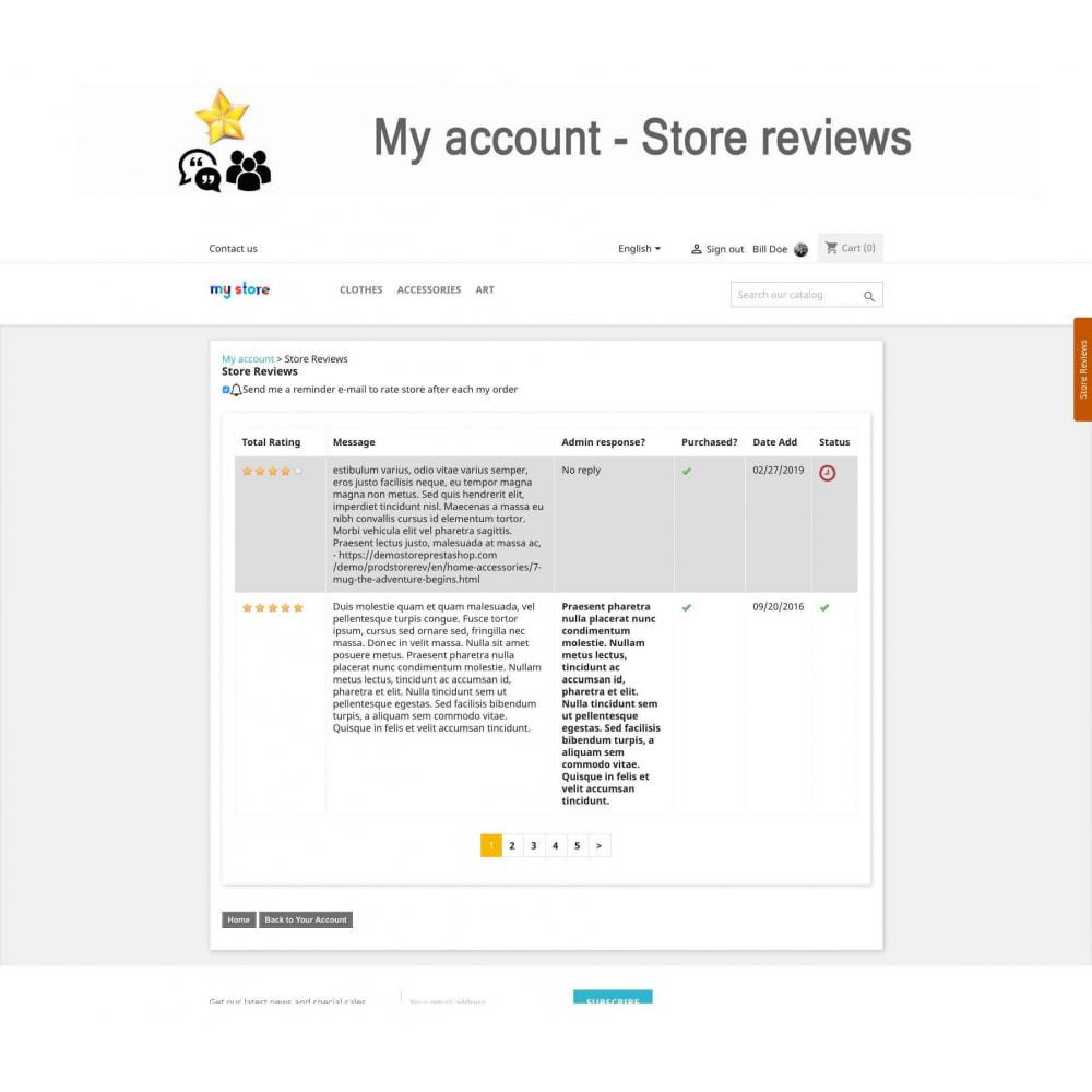 module - Recensioni clienti - Product Reviews+Shop Reviews, Loyalty Program, Reminder - 23