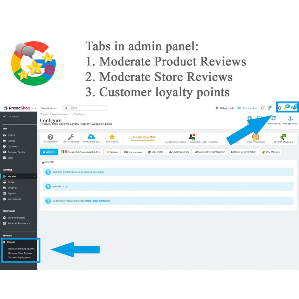 module - Opinie klientów - Product, Shop Reviews, Loyalty Program, Google Snippets - 31