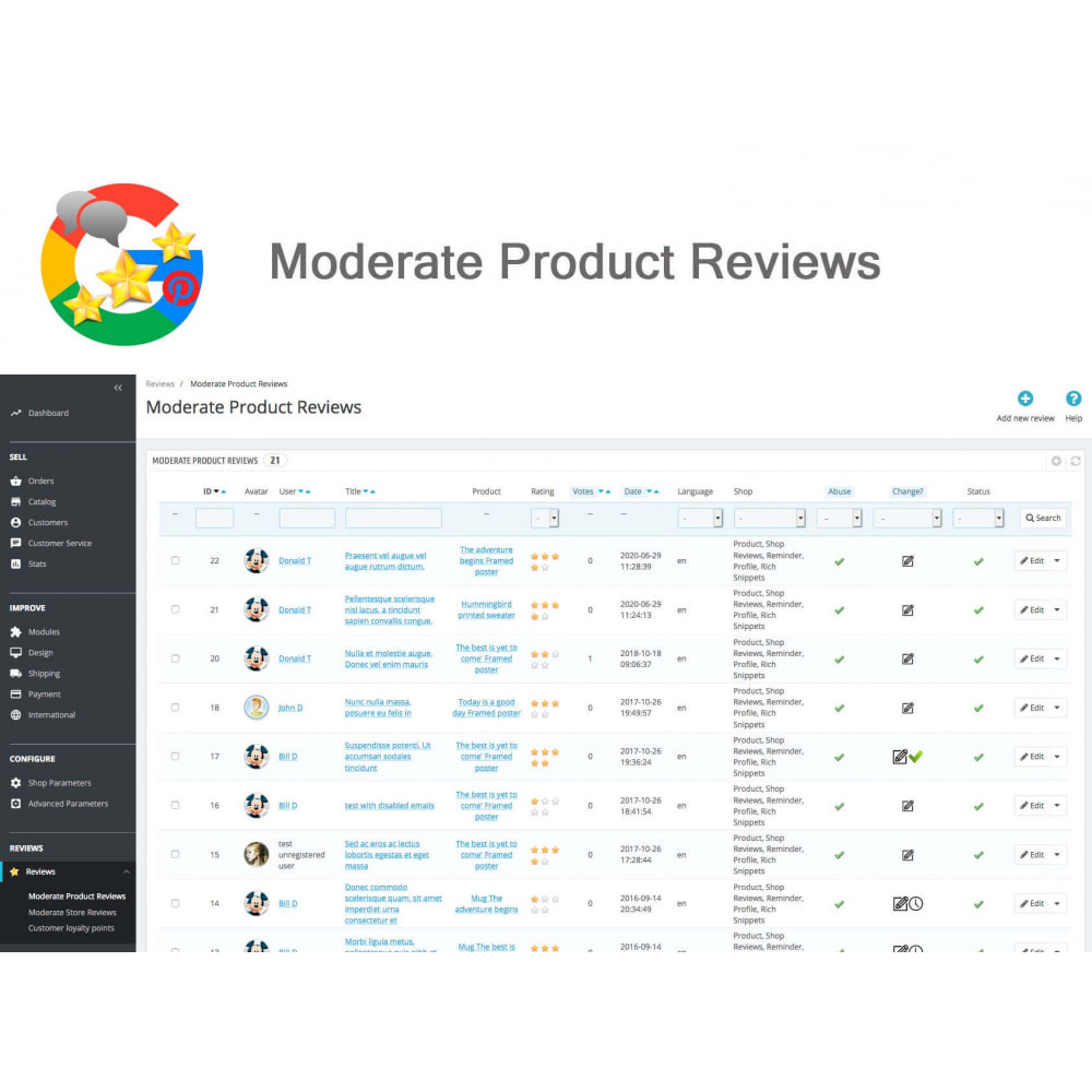 module - Opinie klientów - Product, Shop Reviews, Loyalty Program, Google Snippets - 32