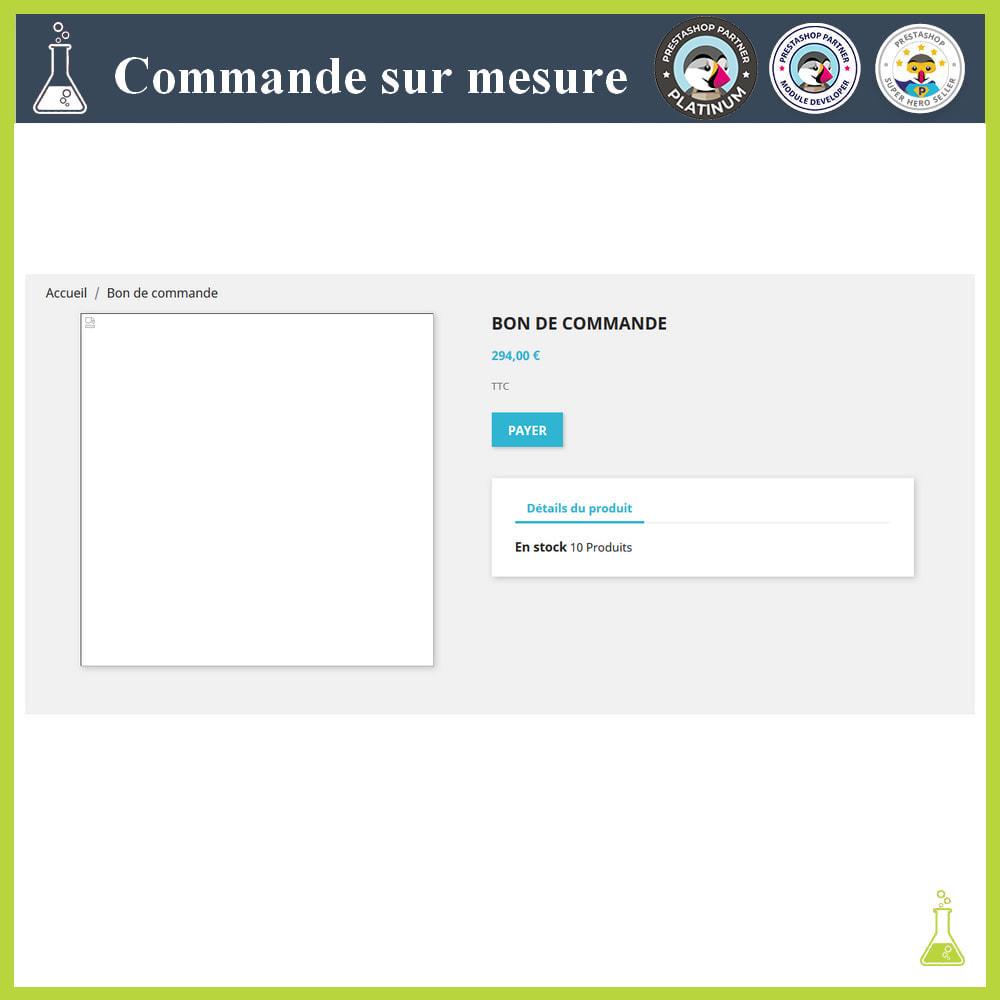 module - Gestion des Commandes - Commande sur mesure - 8