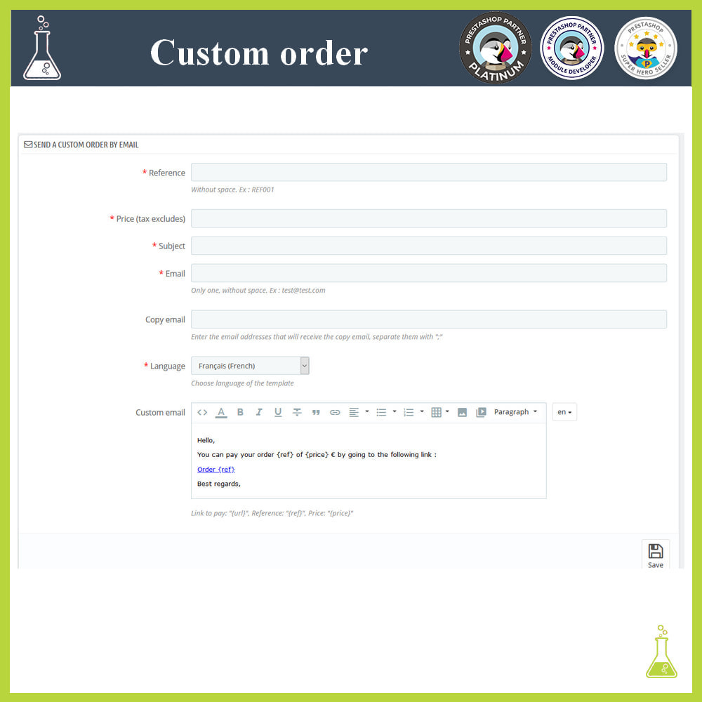 module - Order Management - Custom order - 4