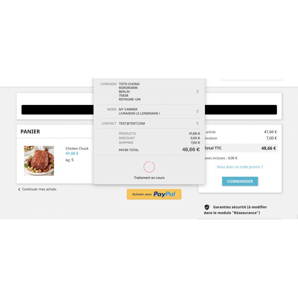 module - Processus rapide de commande - Apple Pay / Google Pay - 1 Click Checkout - 2