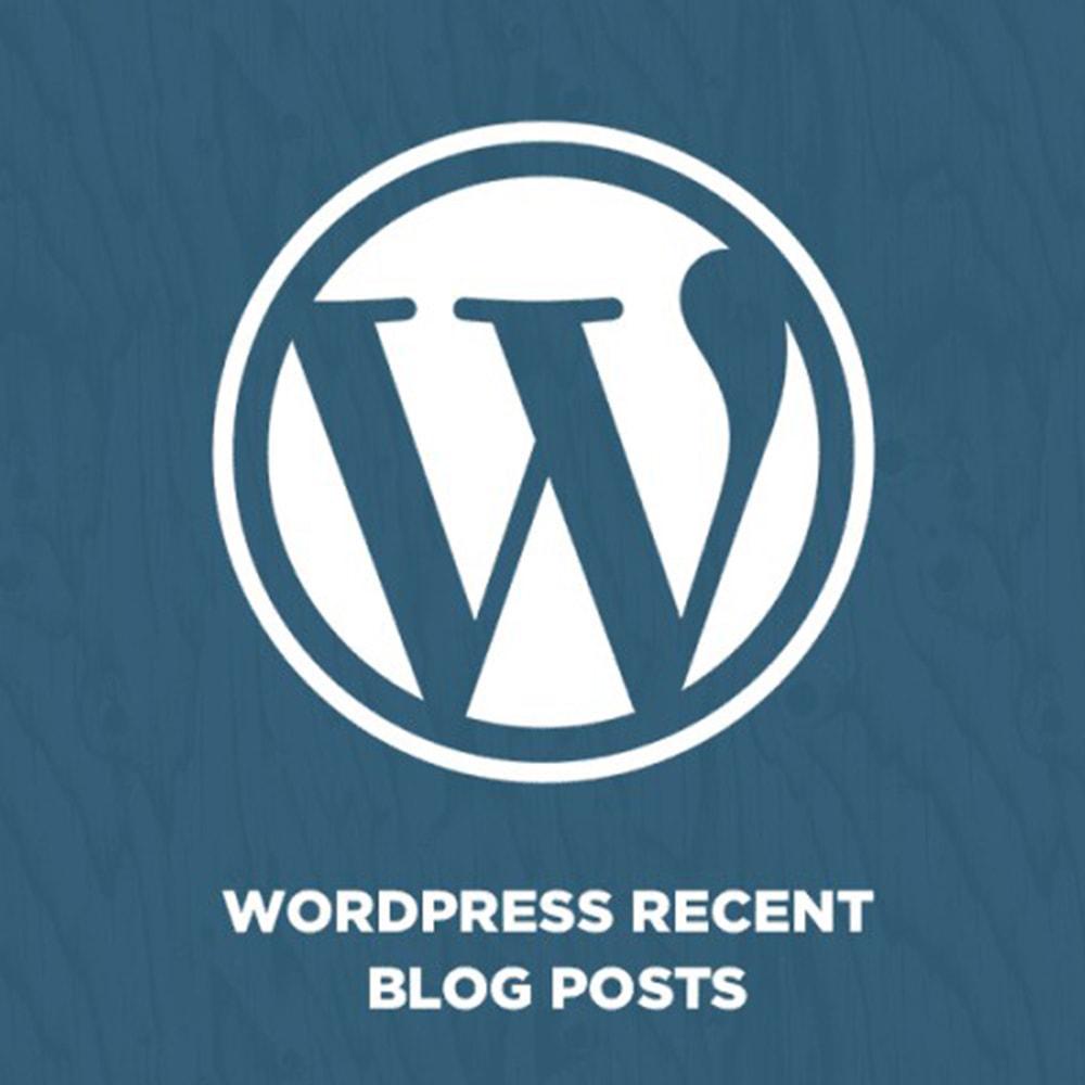 module - Блог, форумов и новостей - WordPress Recent Blog Posts - 1