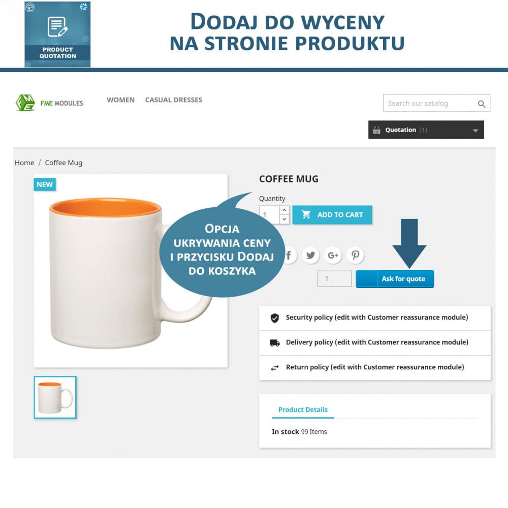 module - Wyceny - Wycena produktu - Pozwól klientowi poprosić o wycenę - 3