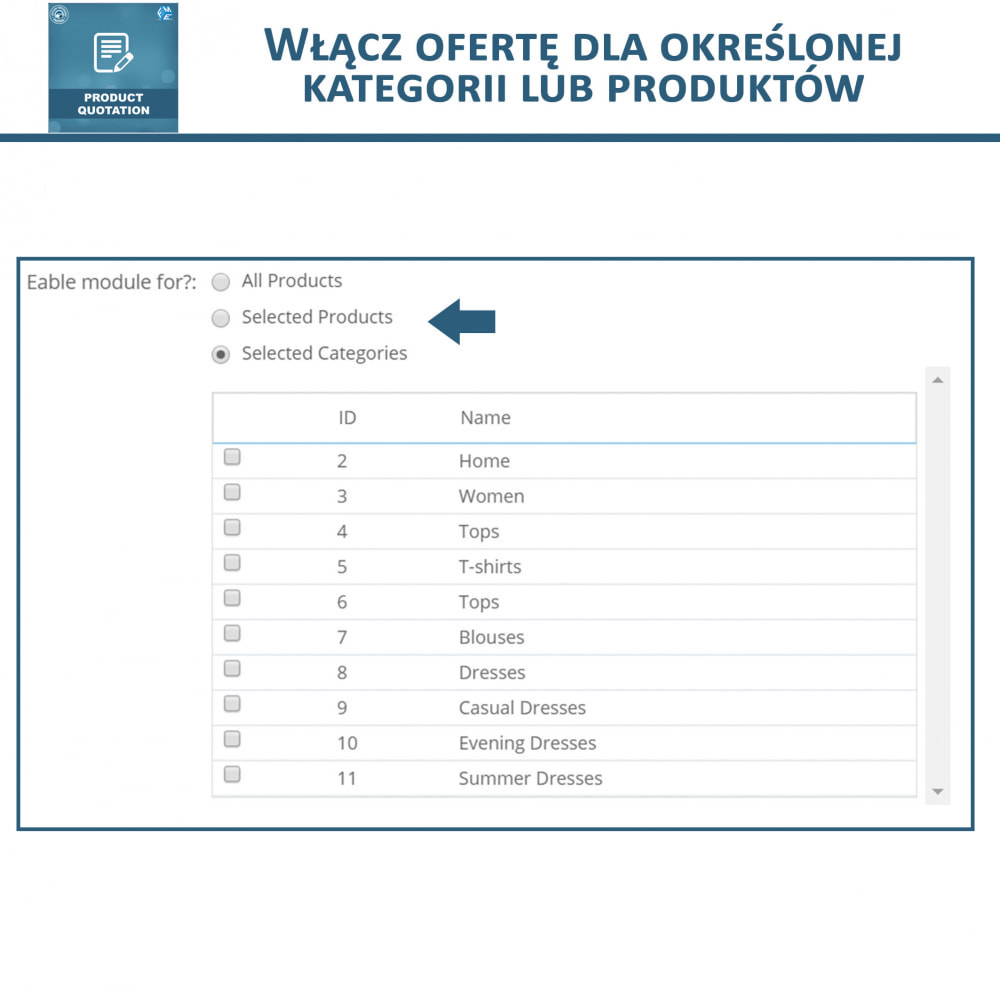 module - Wyceny - Wycena produktu - Pozwól klientowi poprosić o wycenę - 8