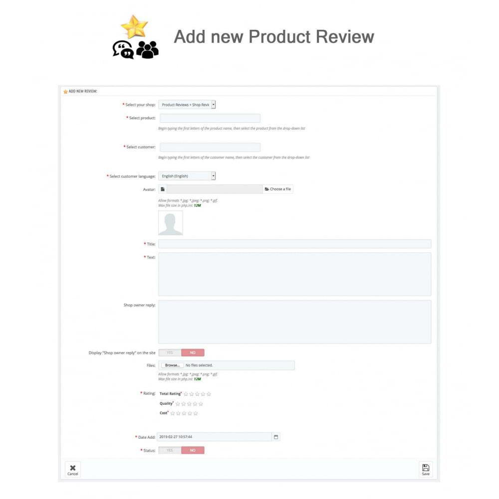 module - Recensioni clienti - Product Reviews+Shop Reviews, Loyalty Program, Reminder - 30