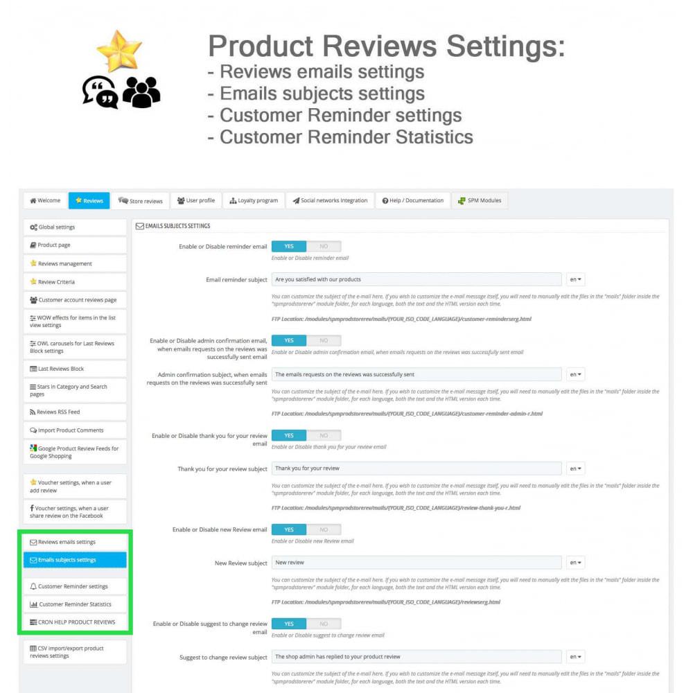 module - Avis clients - Avis sur les produits + Boutique, Programmes fidélité - 35
