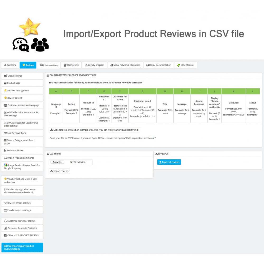 module - Avis clients - Avis sur les produits + Boutique, Programmes fidélité - 38