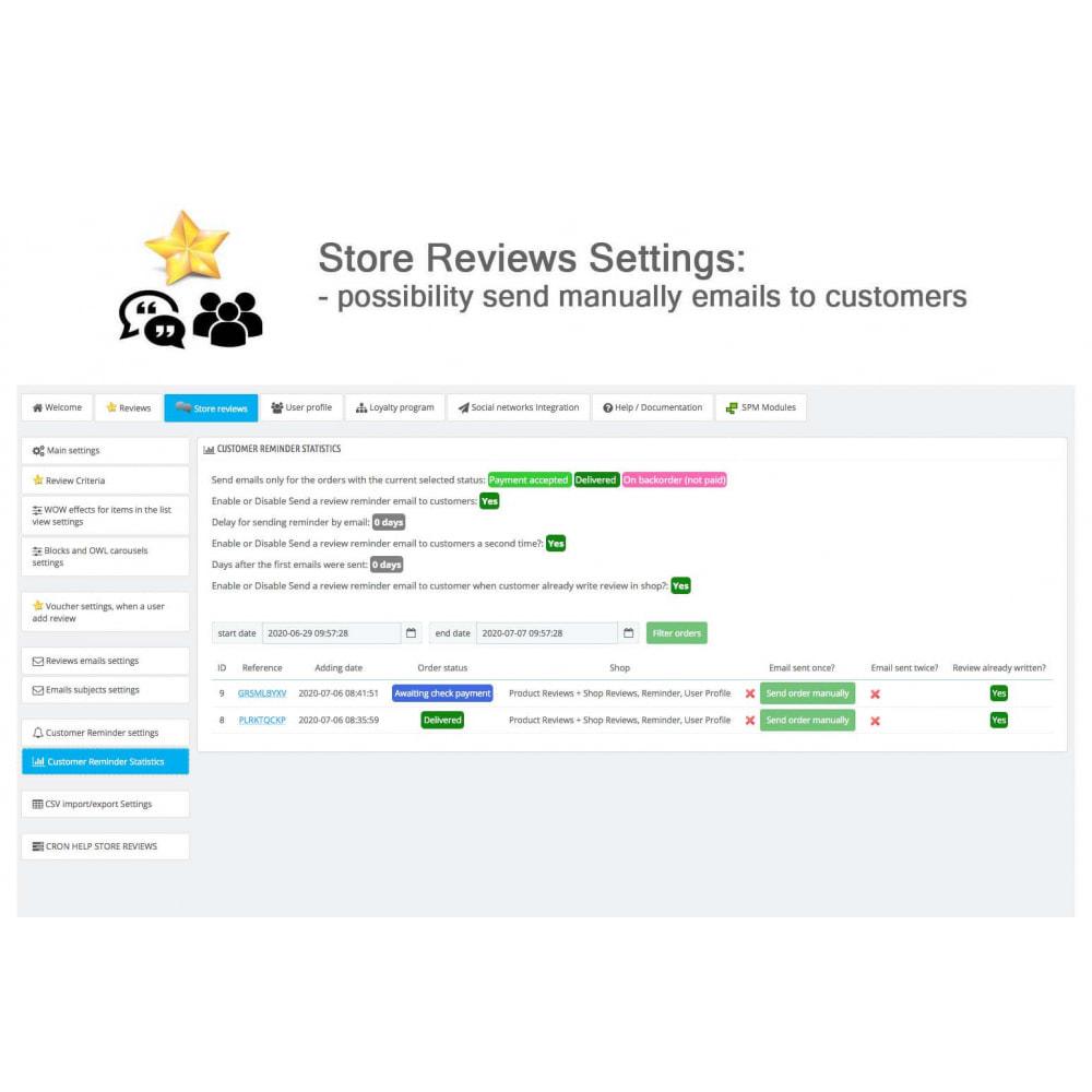 module - Avis clients - Avis sur les produits + Boutique, Programmes fidélité - 42