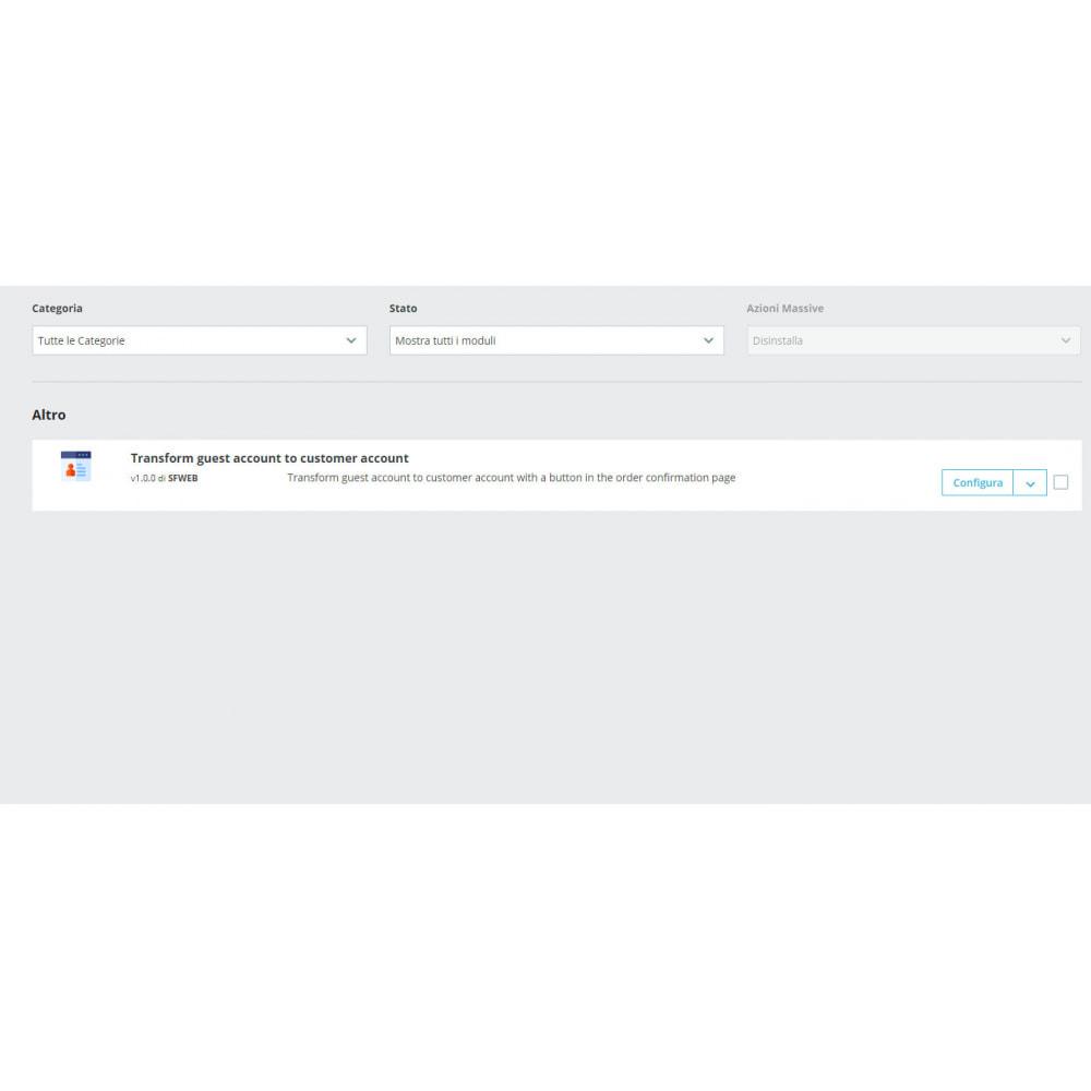 module - Gestione clienti - Trasforma l'account ospite in account cliente - 7