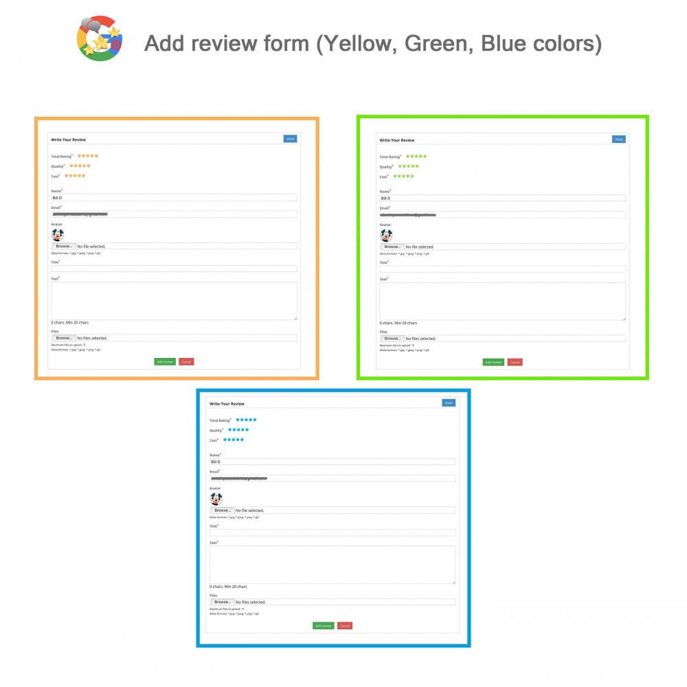 module - Avis clients - Produit+Boutique Avis, Points fidélité, Google Snippets - 8