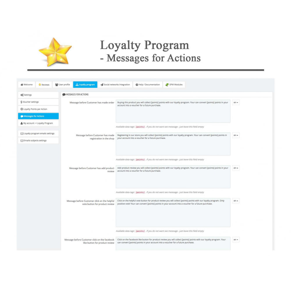 module - Social Widget - Product Reviews PRO + Loyalty Program + User Profile - 40