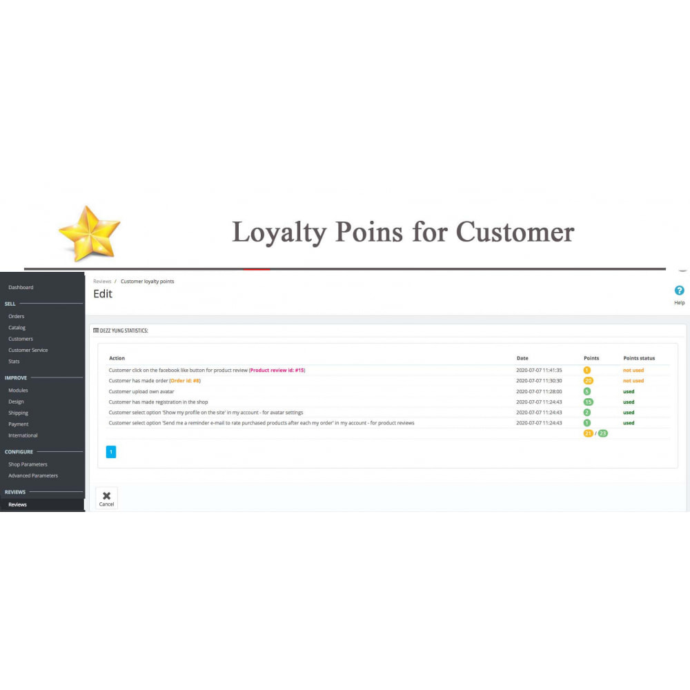 module - Sociale Widgets - Product Reviews PRO + Loyalty Program + User Profile - 48