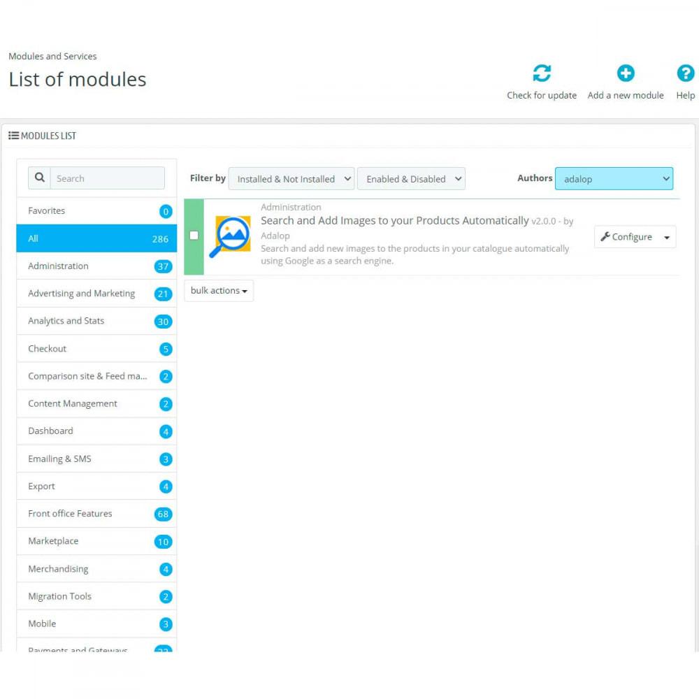 module - Edición Rápida y Masiva - Añade Imágenes de Google y Amazon a tus Productos - 2