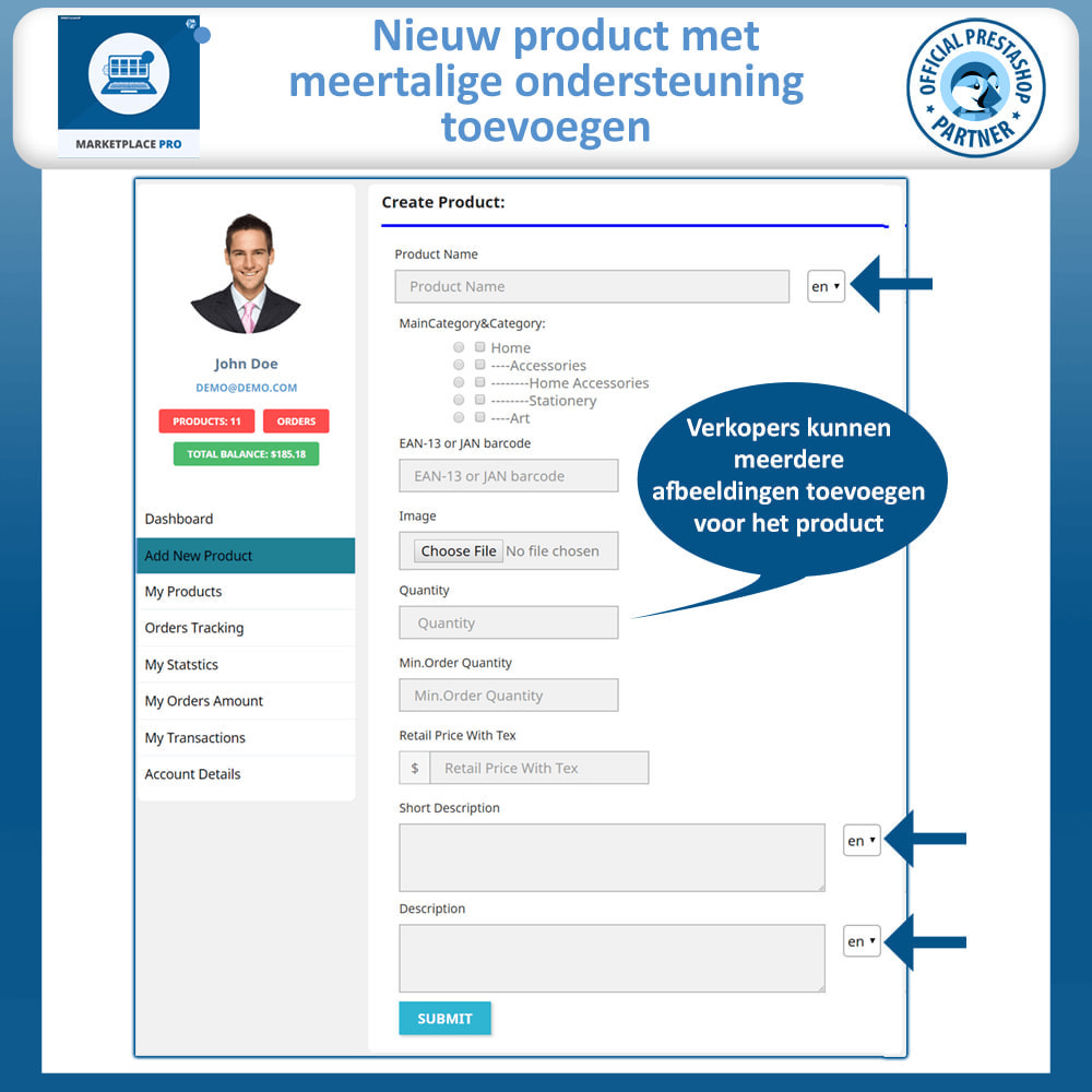 module - Marktplaats opzetten - Multi Vendor Marketplace  - Marketplace Pro - 13