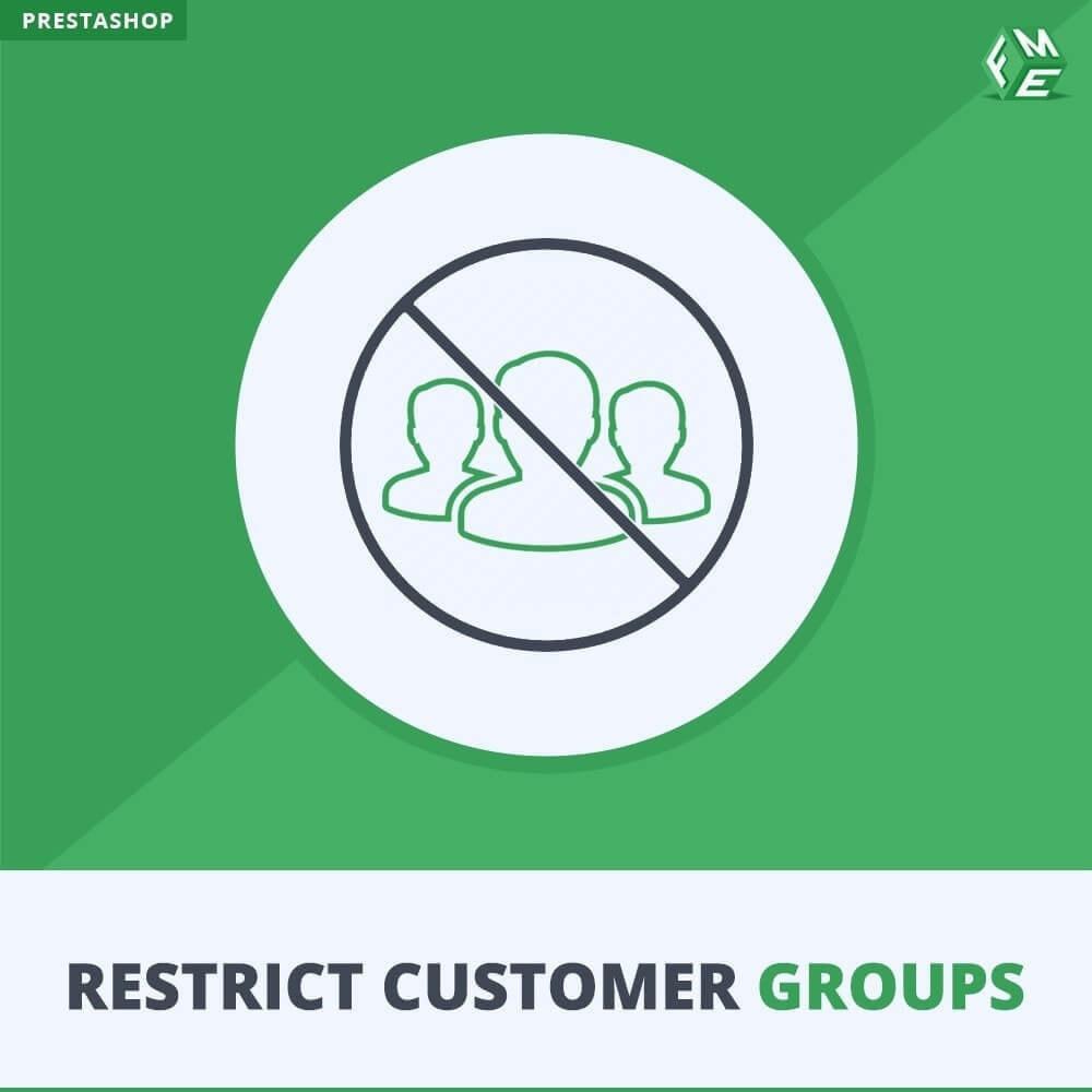 module - Informaciones adicionales y Pestañas - Restringe por grupos de clientes -  Catálogo y CMS - 1