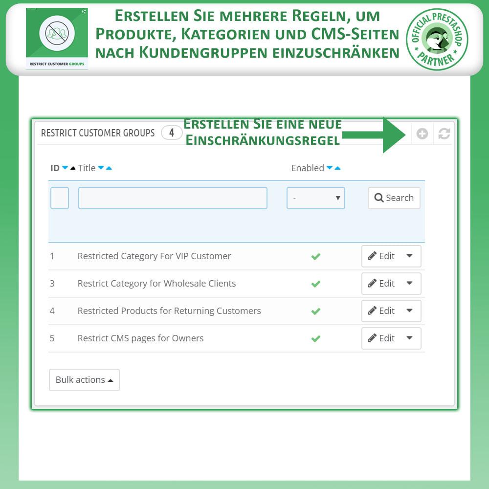module - Zusatzinformationen & Produkt-Tabs - Katalog & CMS-Seiten nach Kundengruppen beschränken - 2