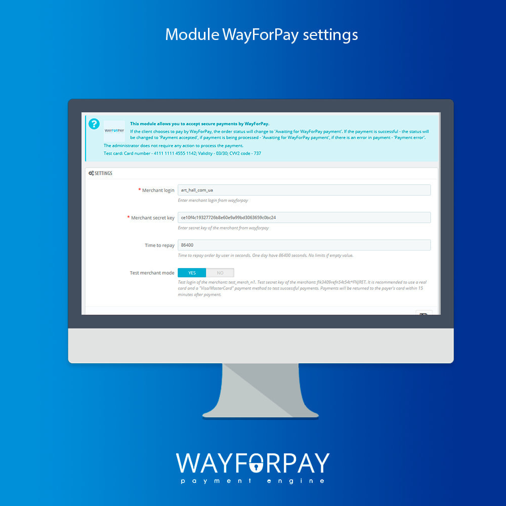 module - Payment by Card or Wallet - WayForPay Payment - 4