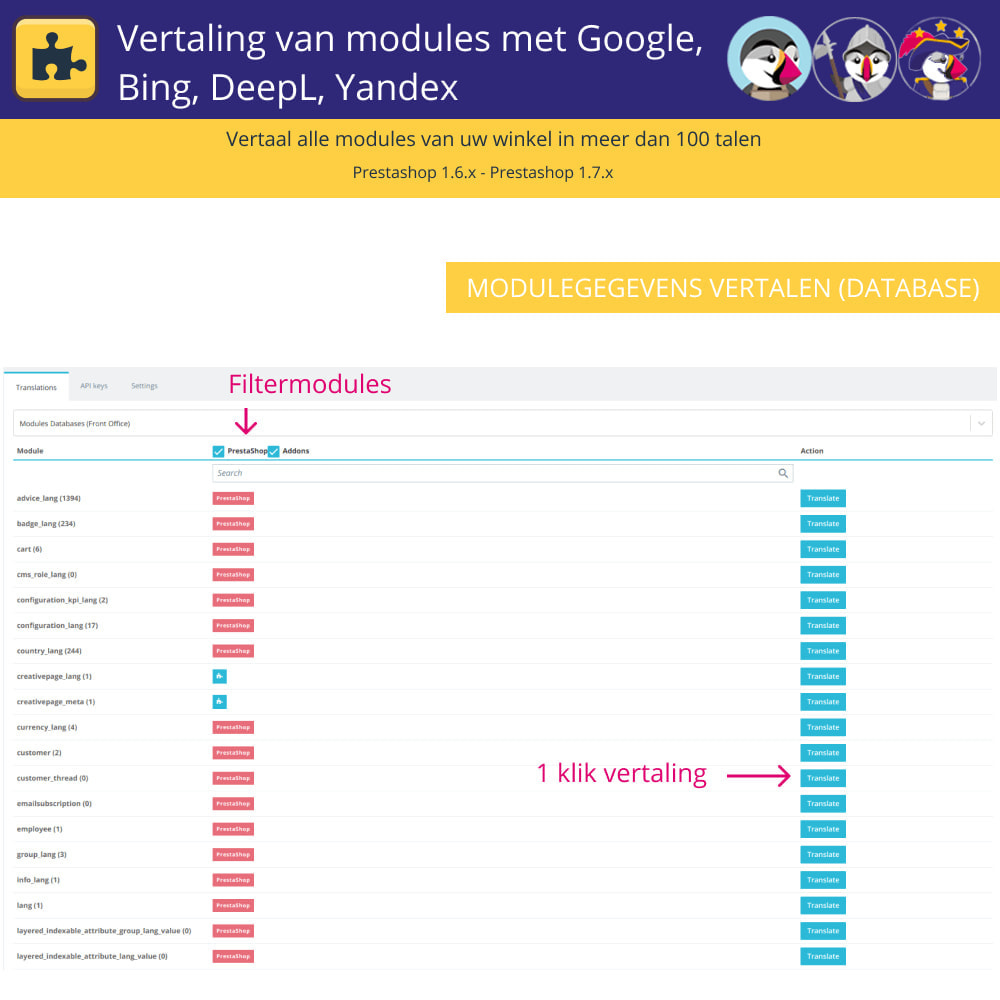 module - Internationaal & Lokalisatie - Translation of modules with Google, Bing, DeepL, Yandex - 3