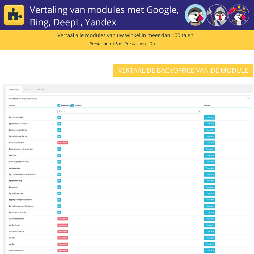 module - Internationaal & Lokalisatie - Translation of modules with Google, Bing, DeepL, Yandex - 5
