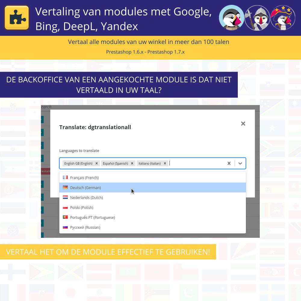 module - Internationaal & Lokalisatie - Translation of modules with Google, Bing, DeepL, Yandex - 6