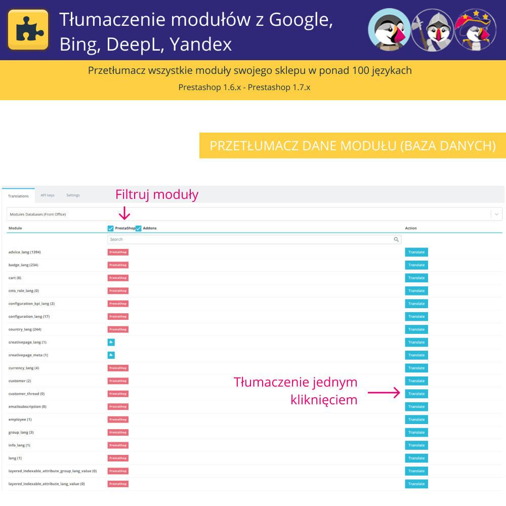module - Międzynarodowość & Lokalizacja - Translation of modules with Google, Bing, DeepL, Yandex - 3