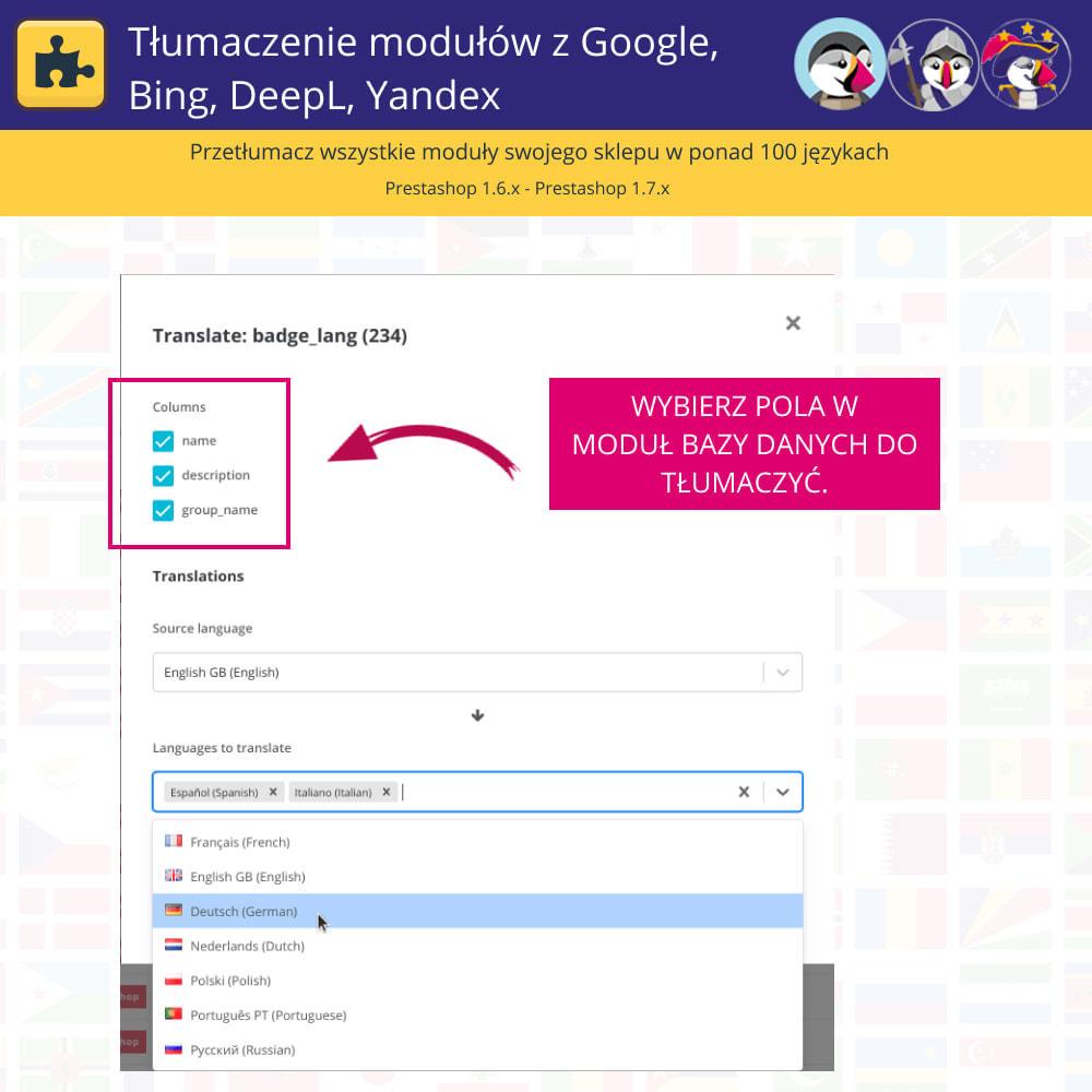module - Międzynarodowość & Lokalizacja - Translation of modules with Google, Bing, DeepL, Yandex - 4