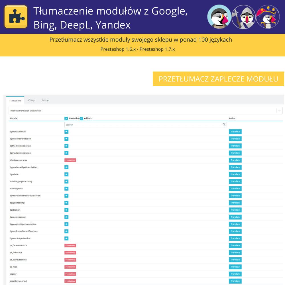 module - Międzynarodowość & Lokalizacja - Translation of modules with Google, Bing, DeepL, Yandex - 5