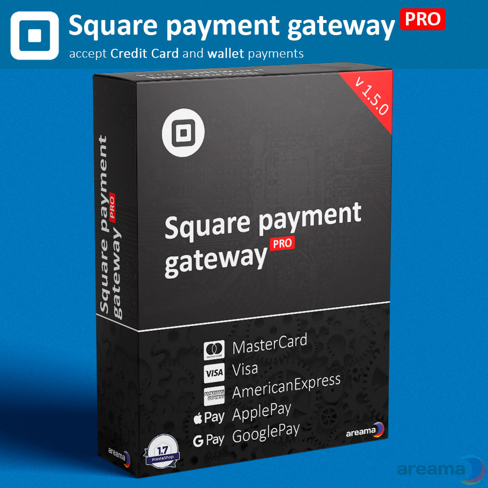 module - Zahlung per Kreditkarte oder Wallet - Square Payment Gateway PRO - Card and Wallet payments - 1