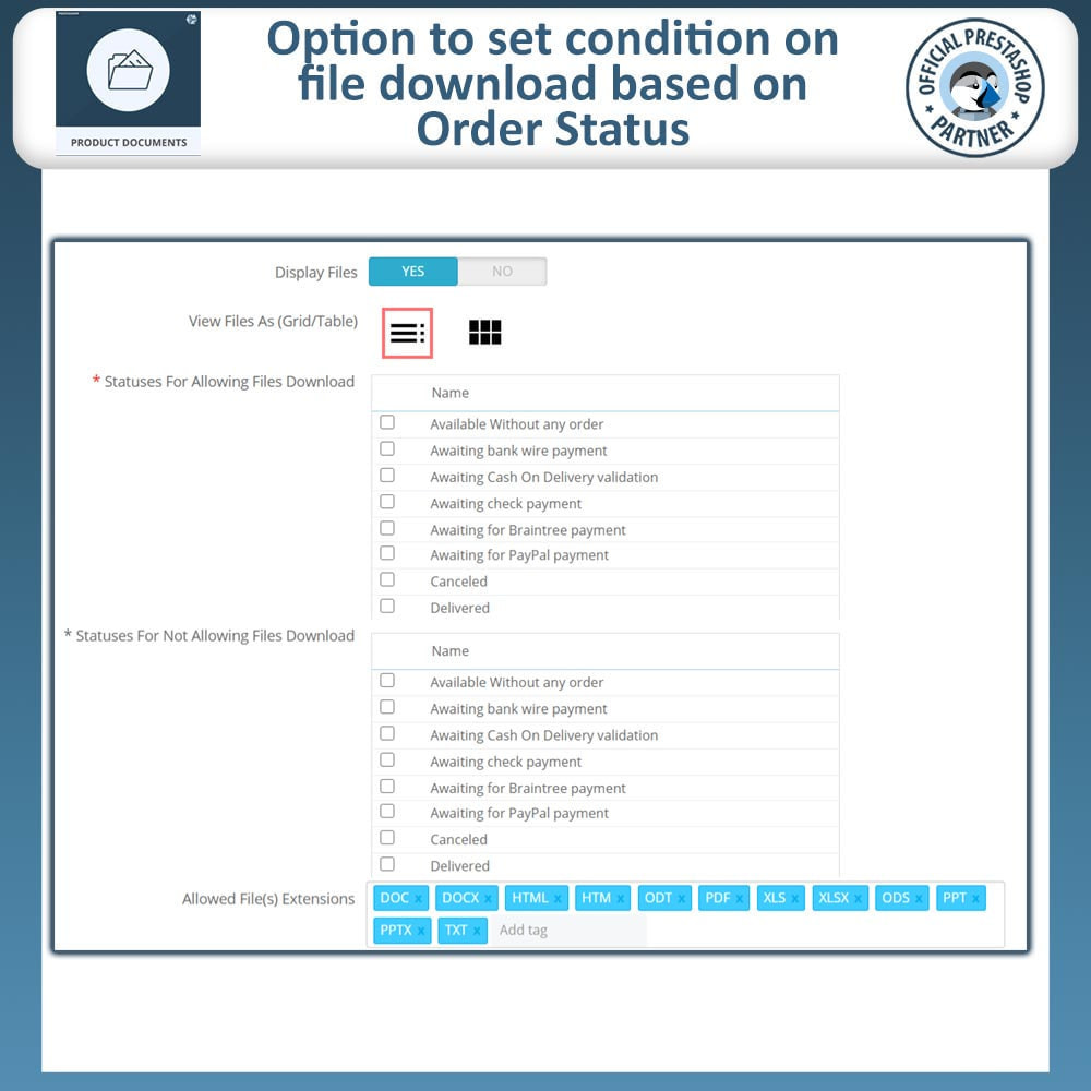 module - Additional Information & Product Tab - Product Documents - 8