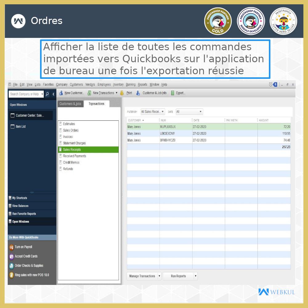 module - Connexion à un logiciel tiers (CRM, ERP...) - Connecteur de bureau QuickBooks - 17
