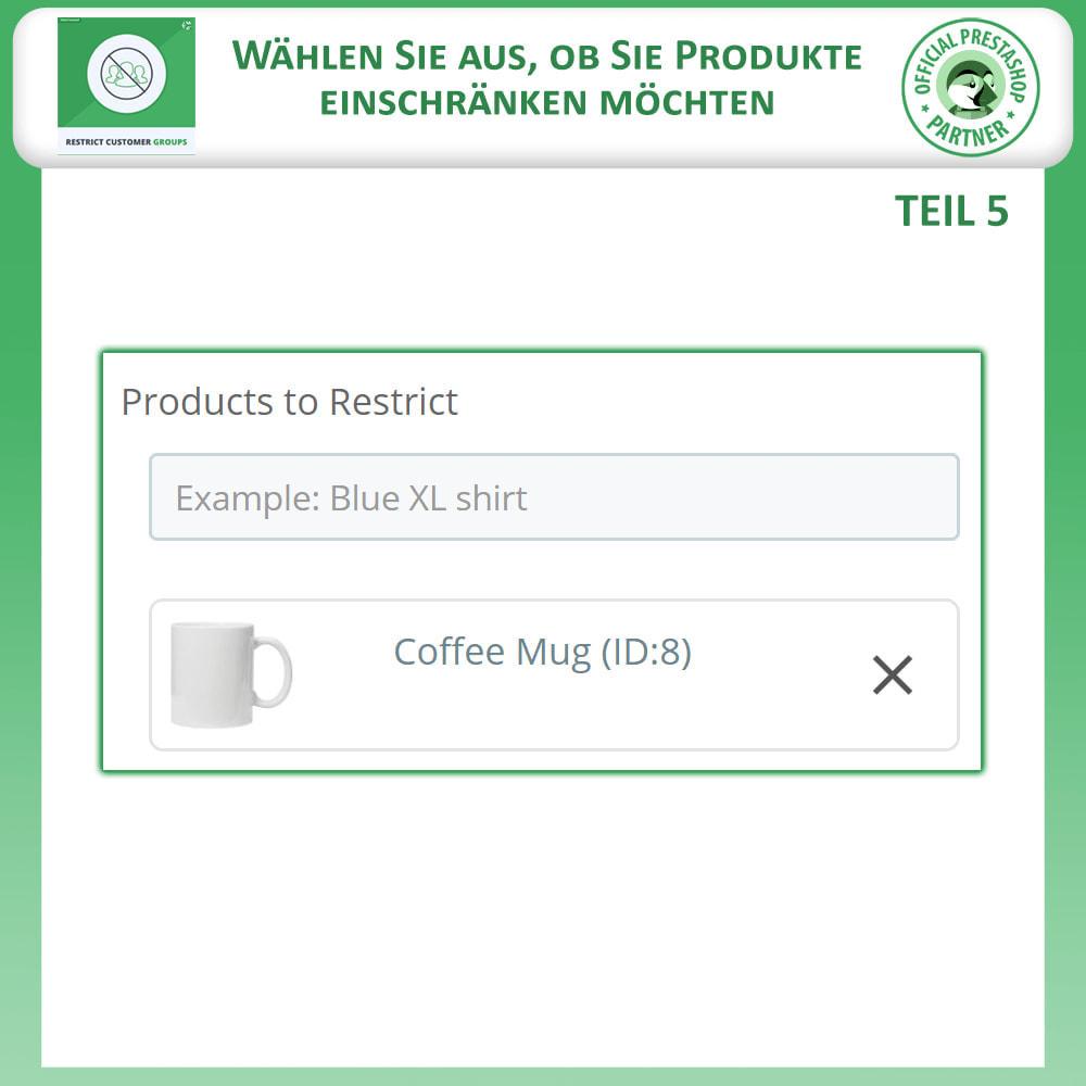 module - Zusatzinformationen & Produkt-Tabs - Katalog & CMS-Seiten nach Kundengruppen beschränken - 8