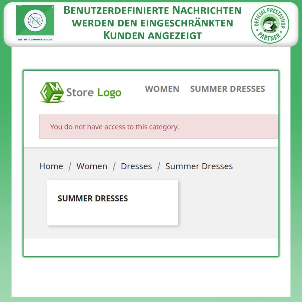 module - Zusatzinformationen & Produkt-Tabs - Katalog & CMS-Seiten nach Kundengruppen beschränken - 11