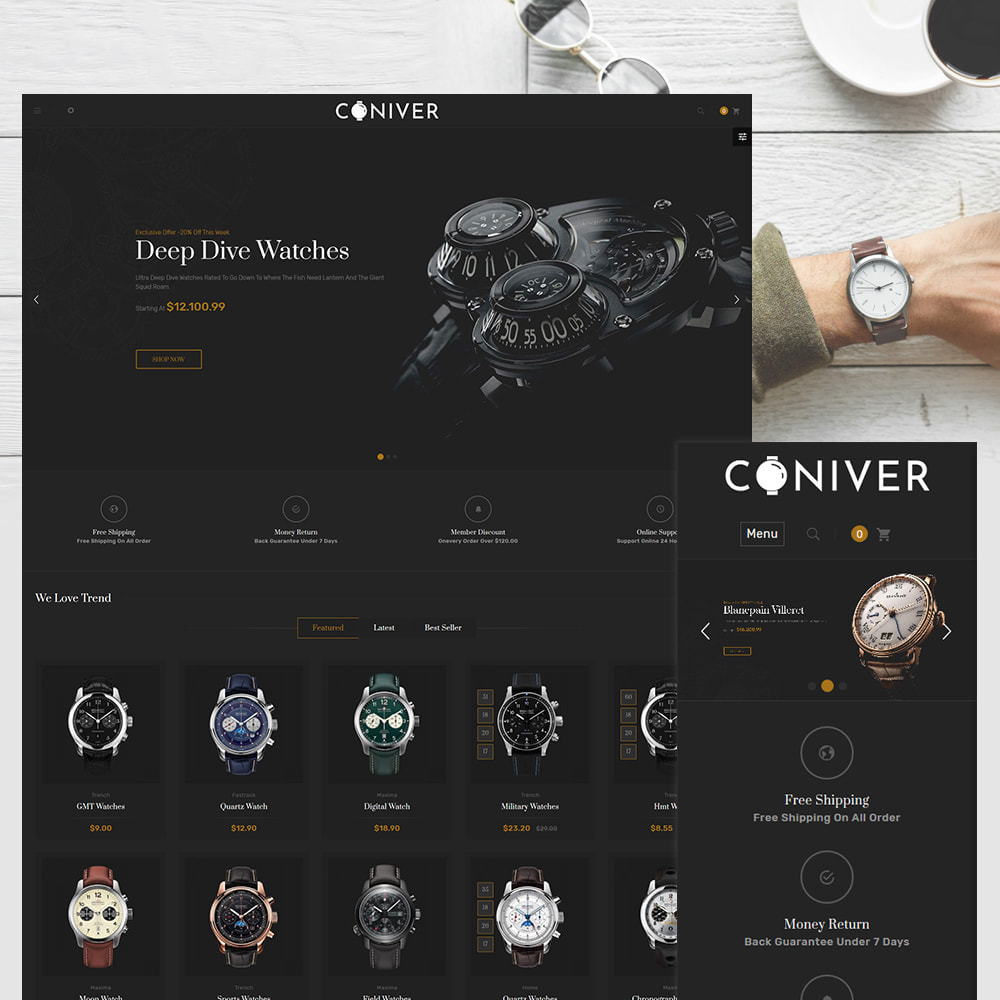 theme - Jewelry & Accessories - Coniver Band Watch Store - 1
