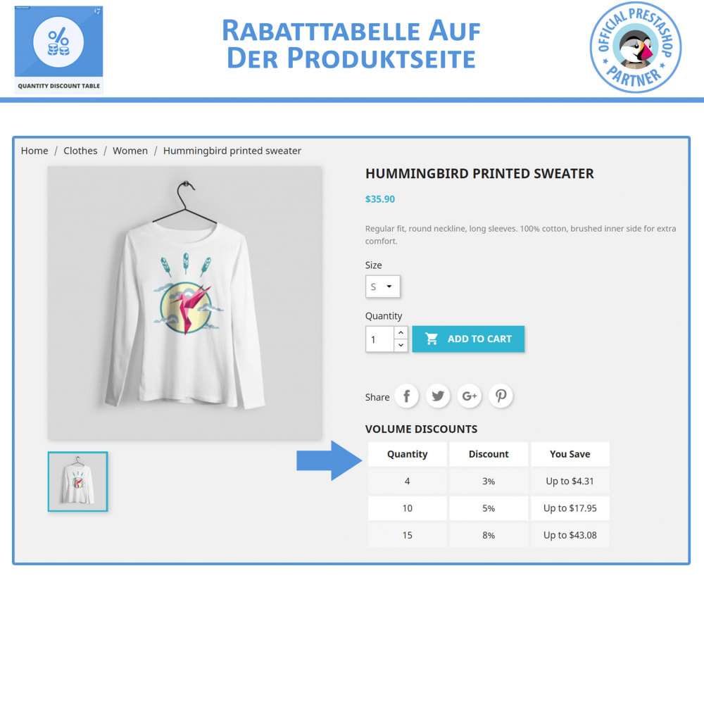 module - Promotion & Geschenke - Mengenrabatt-Tabelle - 3