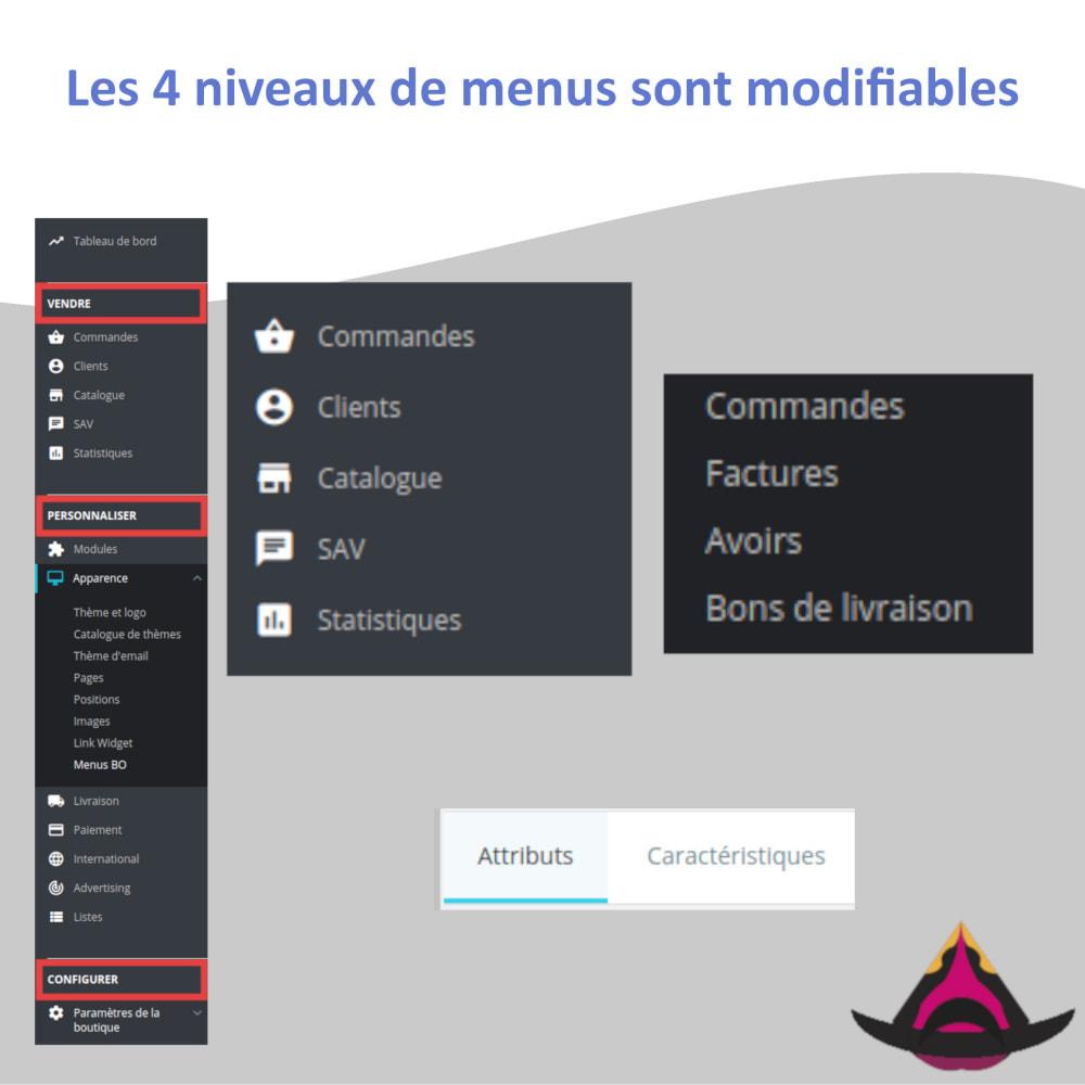 module - Menu - Gérer la disposition des menus du back-office - 4