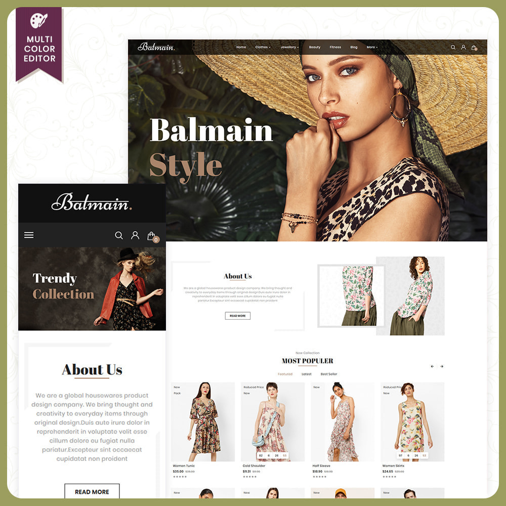 theme - Fashion & Shoes - Balmain Fashion Store - 1