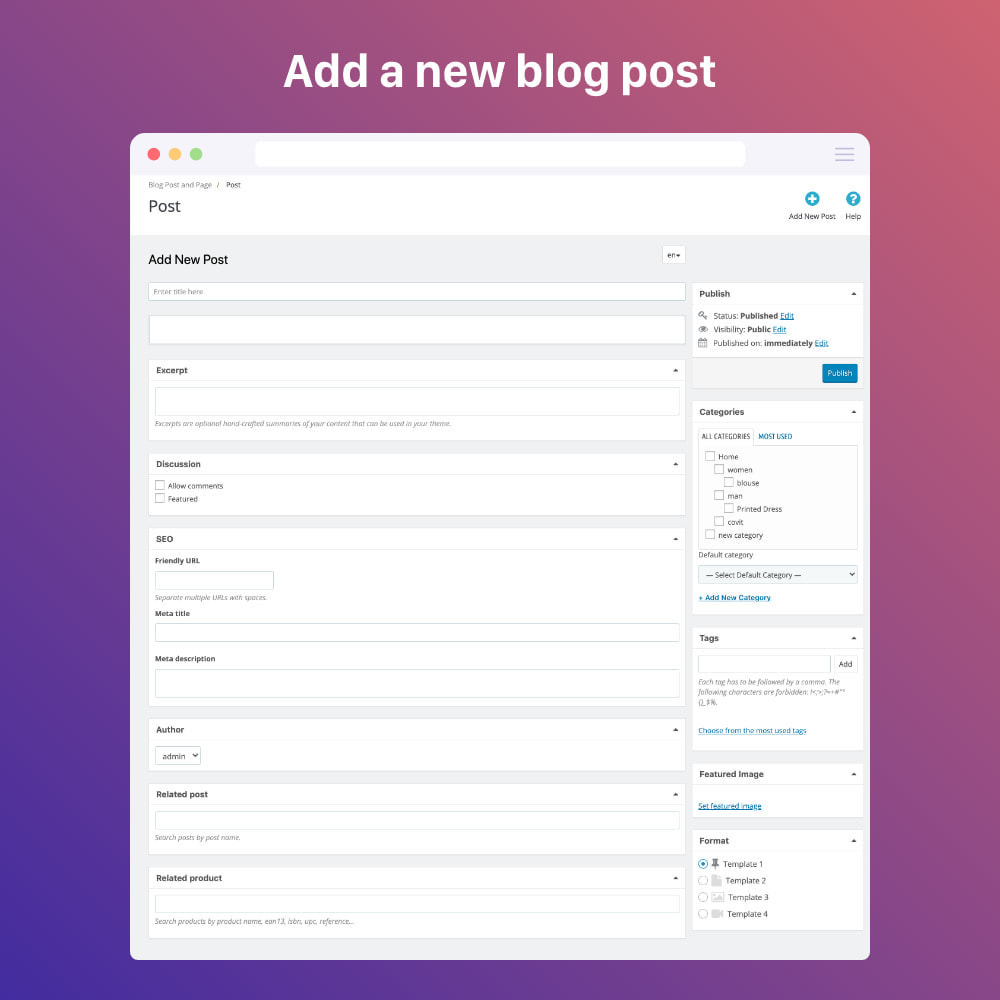 module - Blog, Forum & Actualités - Blog professional - Wordpress UI - 1