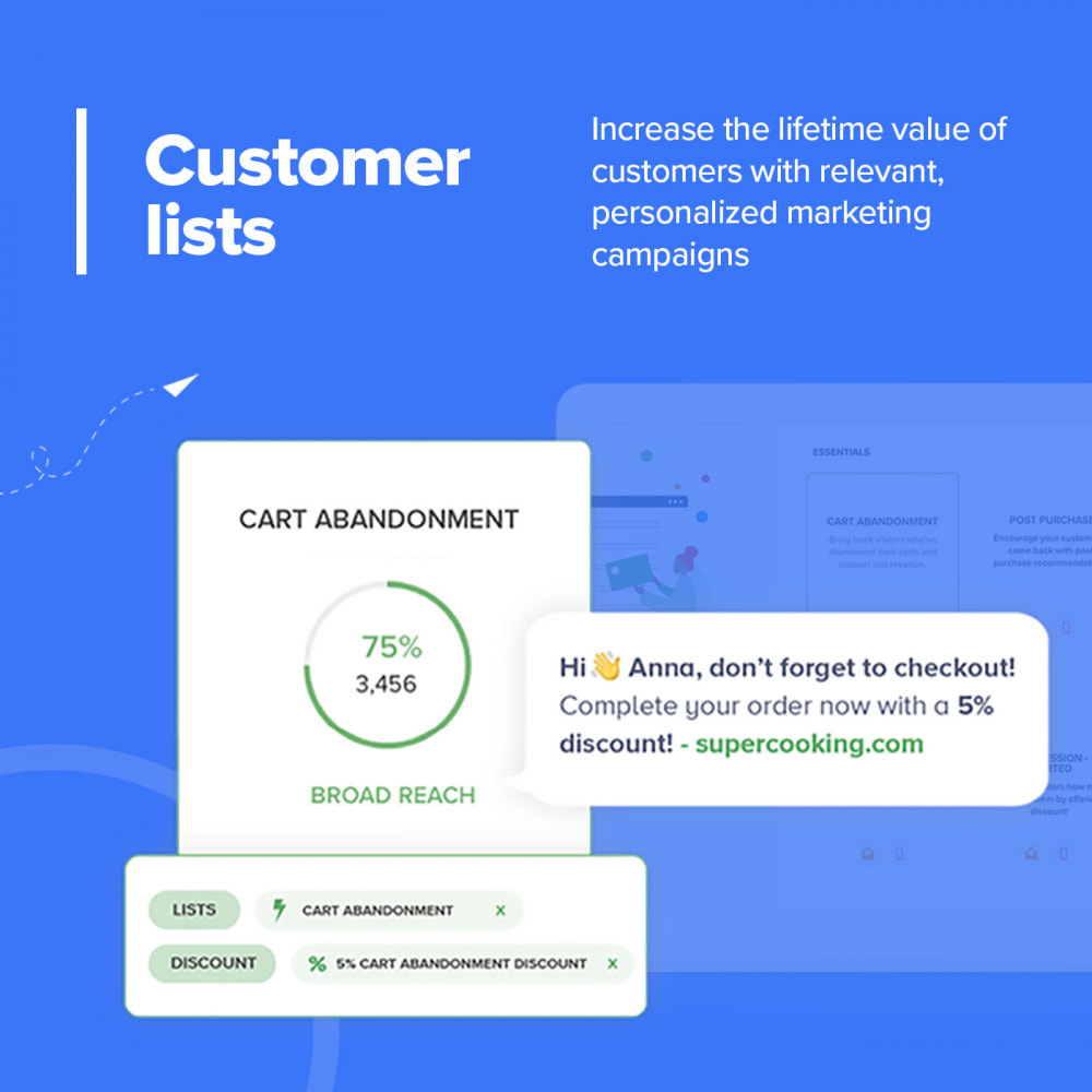 module - Remarketing & Shopping Cart Abandonment - Carts Guru | SMS, email, and FB messenger marketing - 8