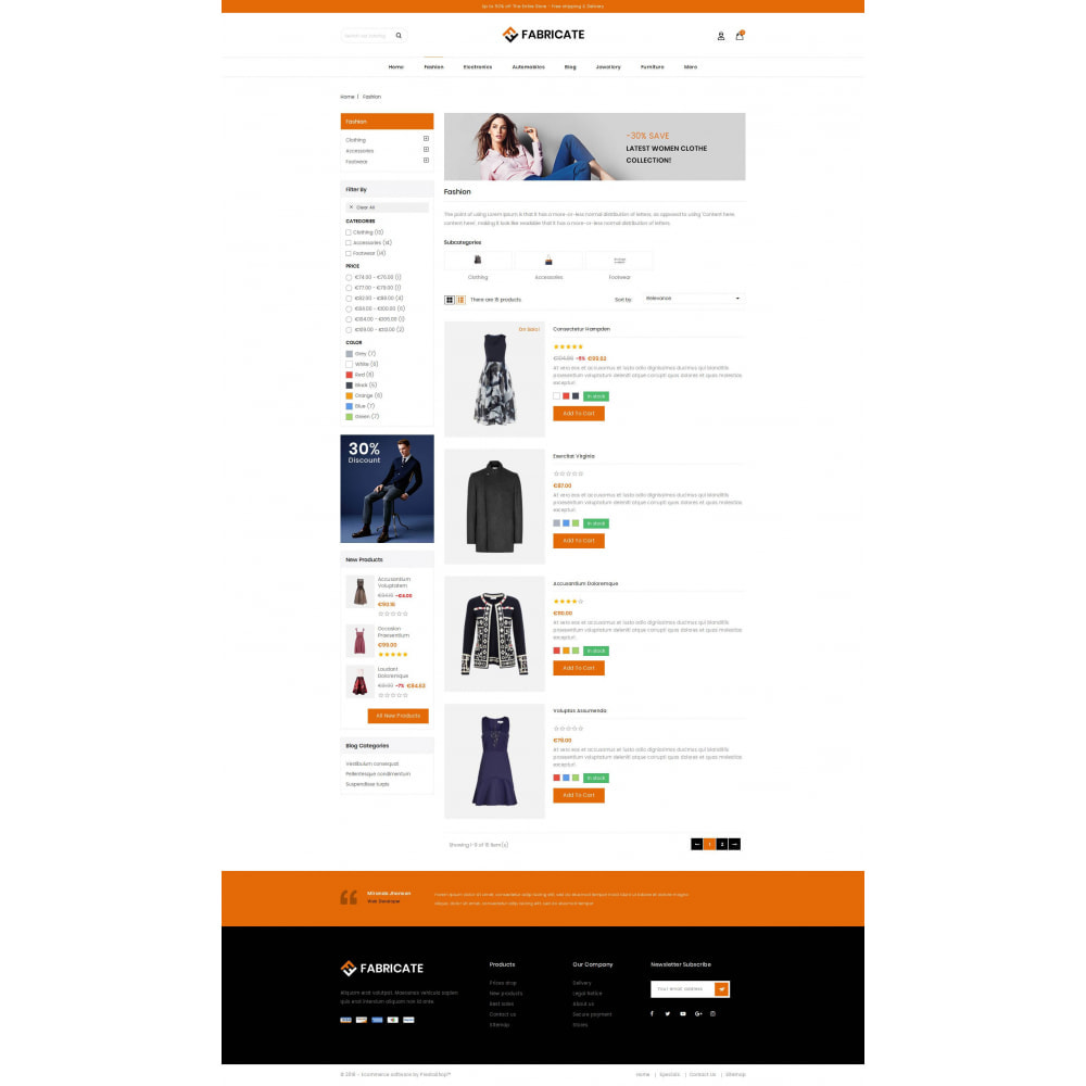 theme - Fashion & Shoes - Fabricate - Apparel Store - 4