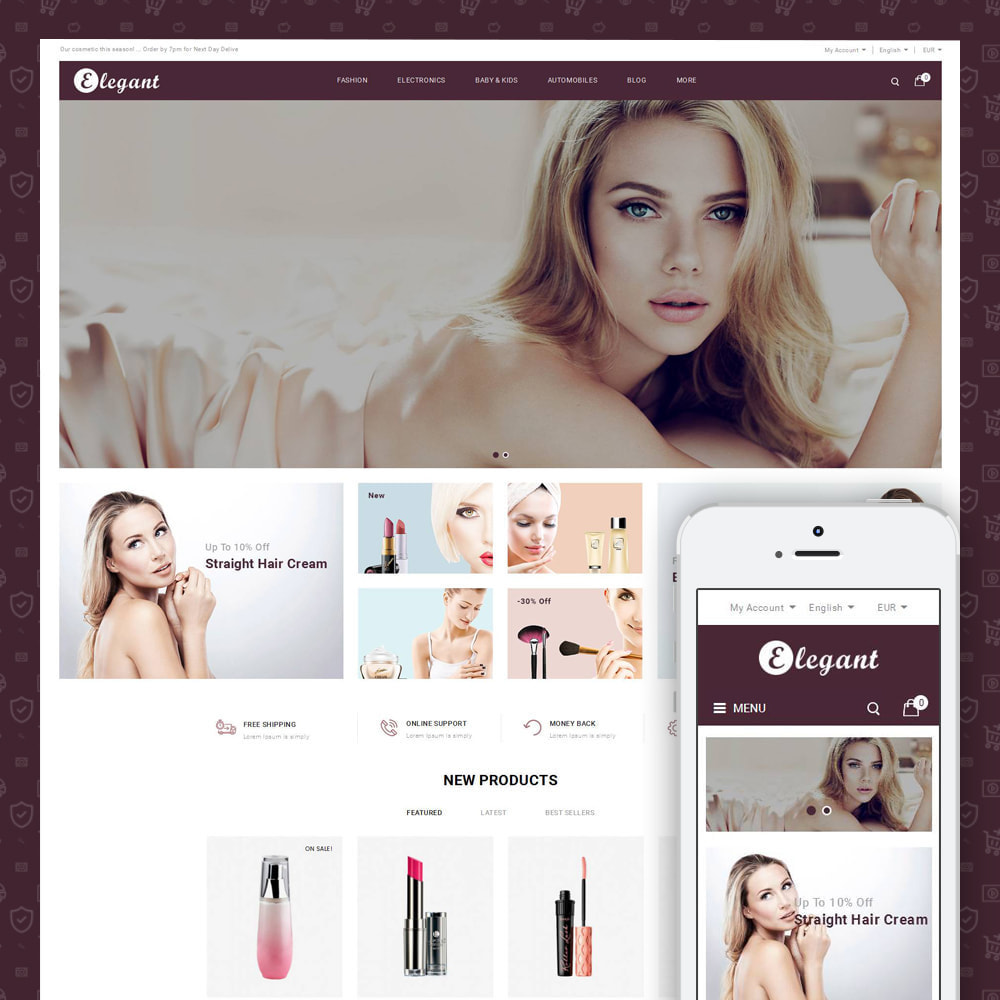 theme - Health & Beauty - Elegant - Cosmetic Store - 1